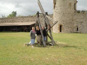 Ancient trebuchet at Chateau Puivert
