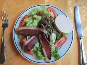 Famous Duck Salad Alet-les-Bains