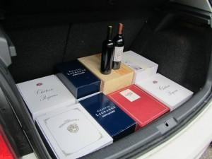 Picking up wine